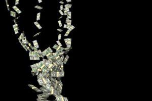 money-flying